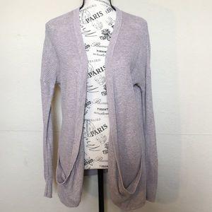 American Eagle Pink&Khaki blended open cardigan M